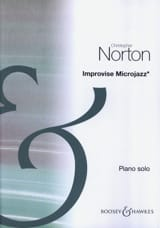 Improvise Microjazz christopher Norton Partition Piano - laflutedepan