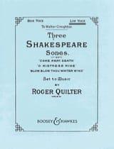 3 Shakespeare Songs Opus 6. Voix Haute Roger Quilter laflutedepan.com