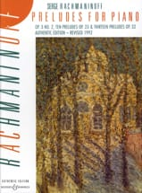 Préludes for Piano - Sergei Rachmaninov - Partition - laflutedepan.com