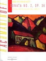 Sonate pour piano n° 2 Opus 36 - Sergei Rachmaninov - laflutedepan.com