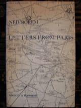 Letters From Paris Ned Rorem Partition Chœur - laflutedepan.com
