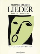 Richard Strauss - Lieder. Volume 3 (Opus 69 A Opus 88) - Partition - di-arezzo.fr