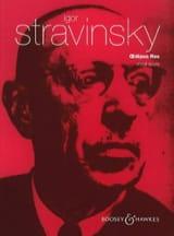 Igor Stravinski - Oedipus Rex - Partition - di-arezzo.fr