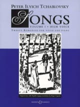 Songs Volume 1. Voix Haute TCHAIKOWSKY Partition laflutedepan.com
