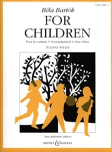 For Children Volume 1 Bela Bartok Partition Piano - laflutedepan.com
