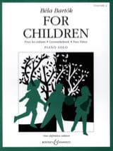 For children Volume 2 Bela Bartok Partition Piano - laflutedepan.com