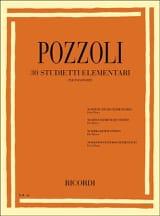 Ettore Pozzoli - 30 Petites Etudes Elémentaires - Partition - di-arezzo.fr