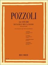 24 Etudes de Mécanisme Facile Pozzoli Partition laflutedepan.com