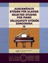 Etudes Choisies Volume 4 Teöke Partition Piano - laflutedepan.com