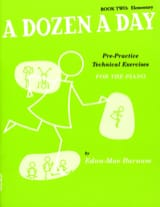 A Dozen A Day Volume 2 en Anglais Partition Piano - laflutedepan.com