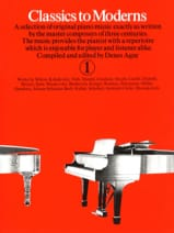 Classics To Moderns Volume 1 Partition Piano - laflutedepan.com
