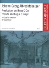 Johann Georg Albrechtsberger - Prelude and Fugue. 4 Hands - Sheet Music - di-arezzo.co.uk