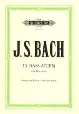 BACH - 15 Airs de Cantates pour Basse - Partition - di-arezzo.fr