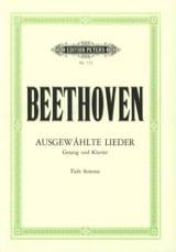 Ludwig van Beethoven - Lieder Choisis Voix Grave - Partition - di-arezzo.fr