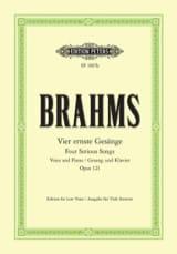 BRAHMS - 4 Ernste Gesänge Opus 121. Serious Voice - Sheet Music - di-arezzo.com