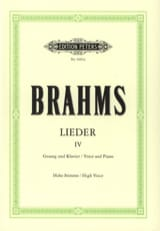 BRAHMS - Lieder Volume 4 High Voice - Sheet Music - di-arezzo.com
