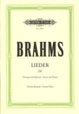 BRAHMS - Lieder Volume 4 Serious Voice - Sheet Music - di-arezzo.com