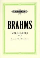 Marienlieder Opus 22 BRAHMS Partition Chœur - laflutedepan.com