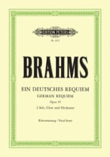 Ein Deutsches Requiem Opus 45 BRAHMS Partition laflutedepan.com