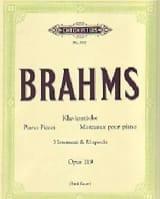 Brahms - 4 Pièces Op.119 - Partition - di-arezzo.fr
