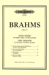 4 Gesänge Opus 17 BRAHMS Partition Chœur - laflutedepan.com