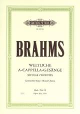 Weltliche Gesänge Volume 2 - Johannes Brahms - laflutedepan.com