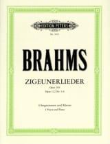 Zigeunerlieder Opus 103 et 112 (3 A 6) BRAHMS laflutedepan.com
