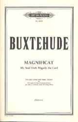 Magnificat Dietrich Buxtehude Partition Chœur - laflutedepan.com
