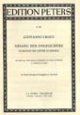 Giovanni Croce - Dialoge de Chori d'Angeli - Partition - di-arezzo.fr