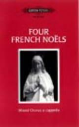 4 French Noëls Partition Chœur - laflutedepan.com