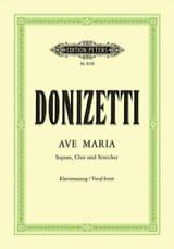 Ave Maria Gaetano Donizetti Partition Chœur - laflutedepan.com