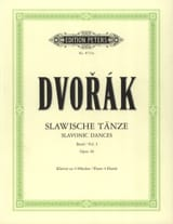 DVORAK - Slaves Dances Opus 46. 4 Hands - Sheet Music - di-arezzo.co.uk