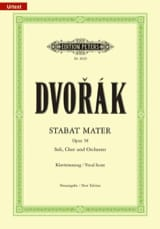 Anton Dvorak - Stabat Mater - Opus 58 - Sheet Music - di-arezzo.co.uk