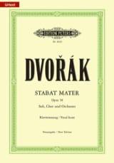 Stabat Mater - Opus 58 DVORAK Partition Chœur - laflutedepan.com