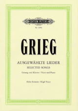 Edward Grieg - Ausgewählte Lieder High Voice - Sheet Music - di-arezzo.com