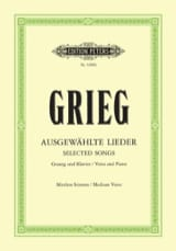 Edward Grieg - Ausgewählte Lieder Average Voice - Sheet Music - di-arezzo.co.uk