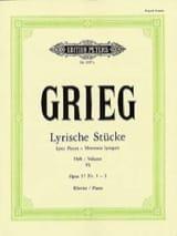 Lyrische Stücke Volume 6 Opus 57 1-3 Edward Grieg laflutedepan.com