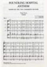 Foundling Hospital Anthem. Choeur HAENDEL Partition laflutedepan.com