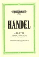 Kammerduette HAENDEL Partition Duos - laflutedepan.com