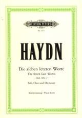 Joseph Haydn - Les 7 Dernières Paroles Du Christ En Croix. Hob 20-2 - Partition - di-arezzo.fr