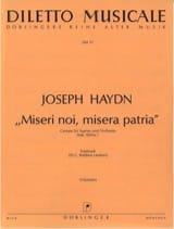 Joseph Haydn - Miseri noi, misera patria hob. XXIVa:7 - Partition - di-arezzo.fr