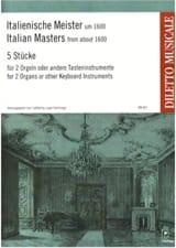 5 Pièces de Maîtres Italiens. 2 Orgues Partition laflutedepan.com