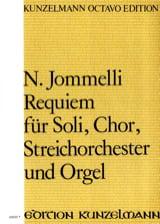 Requiem. Choeur seul Niccolo Jommelli Partition laflutedepan.com