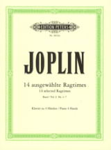 Ragtimes Volume 1. 4 Mains Scott Joplin Partition laflutedepan.com