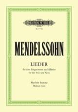 MENDELSSOHN - Sämtliche Lieder. Voix Moyenne - Partition - di-arezzo.fr