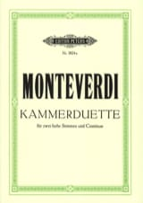 6 Kammer-Duette Claudio Monteverdi Partition Duos - laflutedepan.com