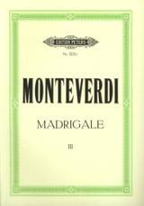 Madrigale. Volume 3 Claudio Monteverdi Partition laflutedepan.com