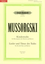 Modest Moussorgsky - Kinderstube - Lieder und Tänze des Todes - Partition - di-arezzo.fr