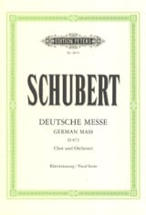 SCHUBERT - Deutsche Messe D 872 - Sheet Music - di-arezzo.co.uk