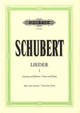 Lieder Volume 1 - Voix Très Grave SCHUBERT Partition laflutedepan.com